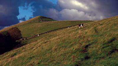 High Wheeldon from the access land path to Crowdecote
